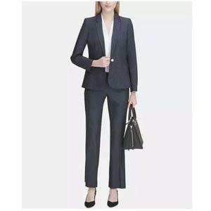 Calvin Klein Charcoal Herringbone Pants